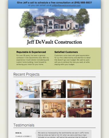 Website for General Contractor in Folsom   Stevenson Media